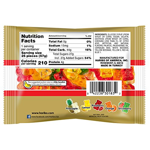 Haribo Gold-Bears, 2-Ounce Packages (Pack of 24) by Haribo (Image #2)