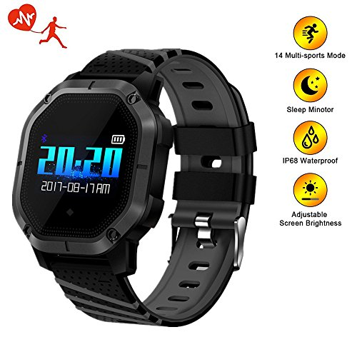 TechCode Fitness Tracker with Heart Rate Monitor, Activity Tracker Smart Watch Pedometer Calorie Counter Wristband Call Reminder Camera Remote Control Smart Bracelet for iOS & Android Phones (Black)