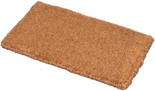 JVL Plain Natural 100% Coir PVC Backed Entrance Door Mat, 45 x 75 cm