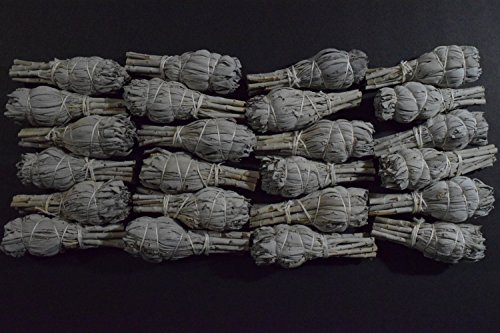 White SAGE Mini Balls (24 Pack) Smudge Cleansing Negativity Removal ()