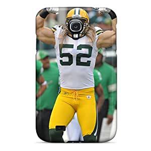 Durable Defender Case For Galaxy S4 Tpu Cover(clay Matthews)