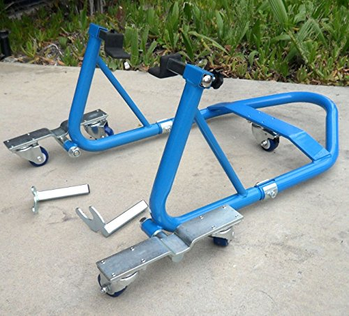 Motorcycle Sport Bike Atv Stand Front Rear Wheel Stand Combo Swing Arm Lift