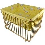 """Honey Bee"""" Parc bébé de luxe parc enfant 100x75cm parc de bebe jaune clair 53516-D01"""