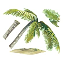 Wallies Peel and Stick Vinyl Wall Decals, Breezy Palm Wall Sticker, Includes 1 Palm Tree Decal