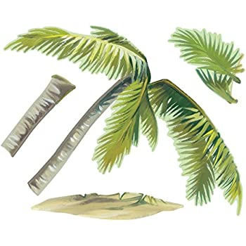 Wallies Wall Decals, Breezy Palm Tree Wall Sticker