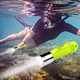 Diving Flashlight, OxyLED 1000 Lumen Super Bright Led Scuba Diving Light, CREE LED Submarine Light Underwater Flashlight, Underwater Dive Torch Light, Waterproof Diving Torch, 1-Pack