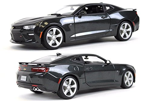 New 1:18 W/B SPECIAL EDITION - GREY 2016 Chevrolet Camaro SS Diecast Model Car By Maisto