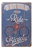 I Want to Ride My Bicycle Bike Riding Tin Sign Bar Pub Garage Home Art Wall Decor Poster Retro