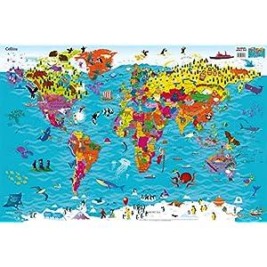 Collins Children's World Wall Map: An illustrated poster for your wall (Collins Children's Poster)