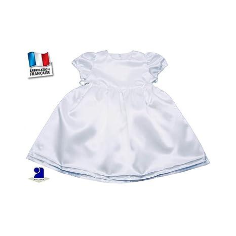Traje bautizo niña, vestido bautizo niña (satén color blanco ...