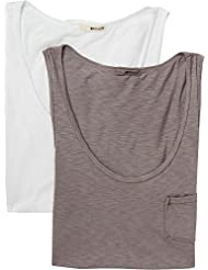LAmade Womens Boyfriend Tank Top 2-Pack