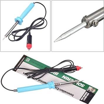 Ting Ao 12 V DC 60 W coche soldador eléctrico de hierro para encendedor de cigarrillos Enchufe agradable: Amazon.es: Coche y moto