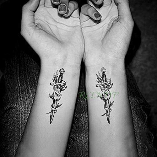 tzxdbh Impermeable Etiqueta Engomada del Tatuaje Temporal ...