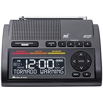 Midland Consumer Radio Weather Radio All Hazard Radio Gray (WR400)