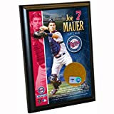 MLB Minnesota Twins Joe Mauer 4-by-6-Inch Dirt Plaque