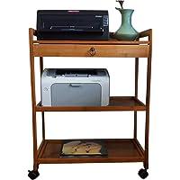 Print Racks Print Rack Home Office Printer Shelf Mobile Printer Shelf Desktop Organizer Kitchen Storage Rack with Drawer…