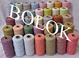 FINCOS 12pcs/lot 55 Kinds Color Cotton Baker Twine Cotton Cords Cotton String 110yards/spool Divine Twine, for Gift Packing