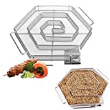 Winnerbe Stainless Steel Wood Chips Grill Basket Smoker BBQ Cold Smoking Generator Tray