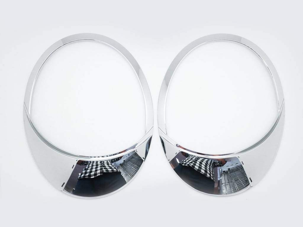 Augenlider 2005 f/ür VW Beetle 1999 Scheinwerferblenden aus Chrom 2/St/ück