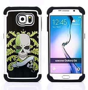- Funny Pirate Skull Flag/ H??brido 3in1 Deluxe Impreso duro Soft Alto Impacto caja de la armadura Defender - SHIMIN CAO - For Samsung Galaxy S6 G9200