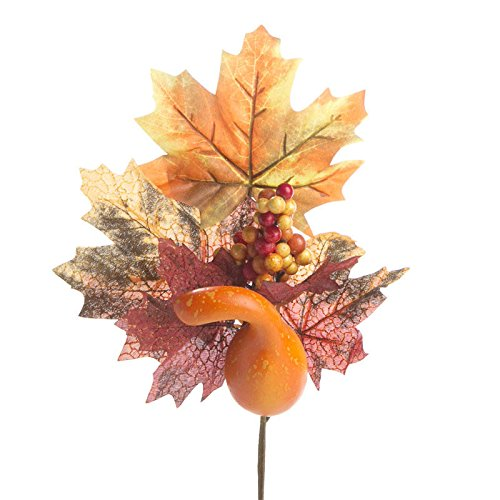 Factory Direct Craft® Group of 4 Fall Artificial Maple Leaf and Harvest Gourd Floral Embellishing Sprays for Home Decor, Crafting and Displaying