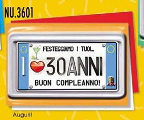 Subitodisponibile Tarjeta Felicitación cumpleaños 30 años ...