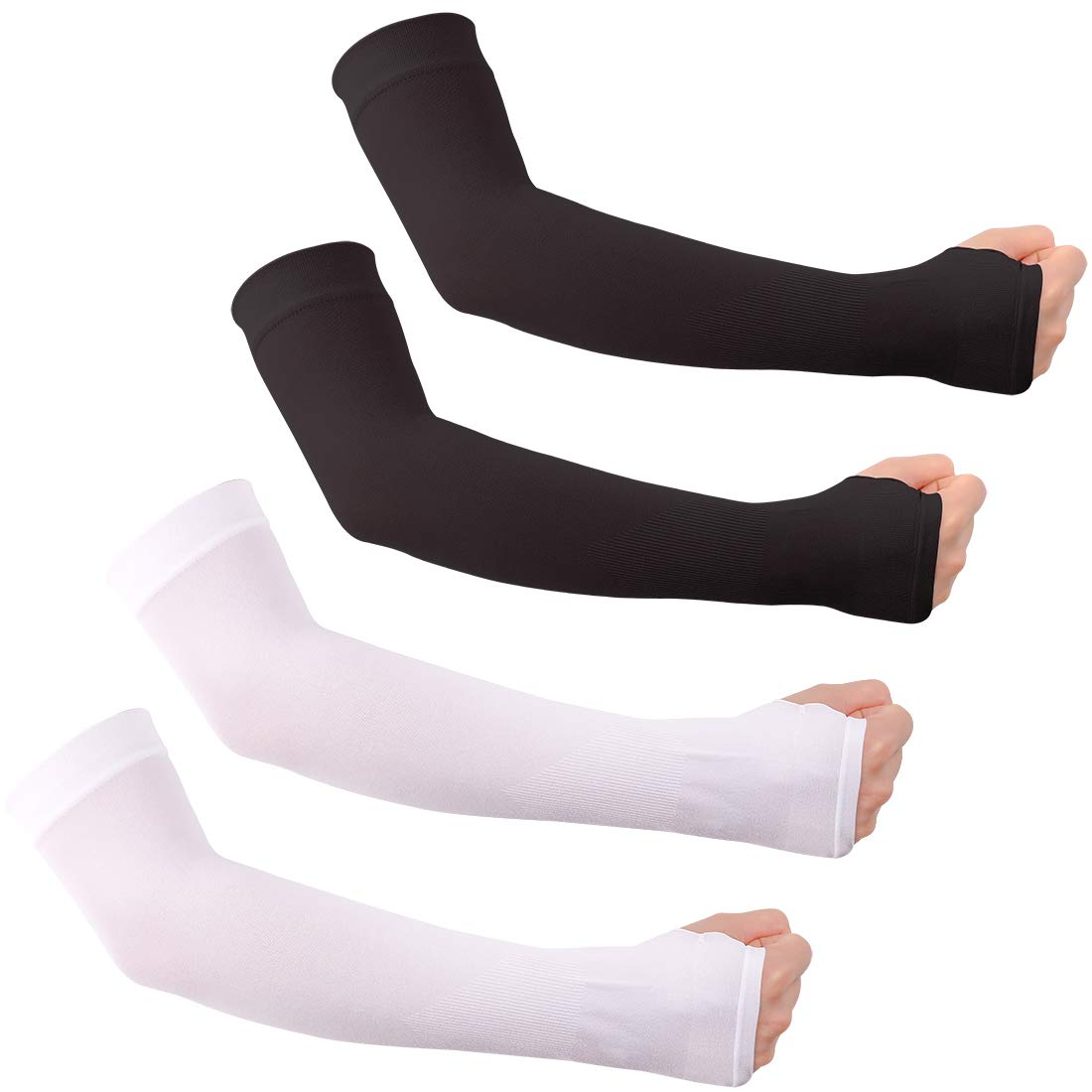 Unisex Arm Sleeves with UV Protection Cooling Long Ice Silk Sleeves for Sports & Outdoors to Cover Arms
