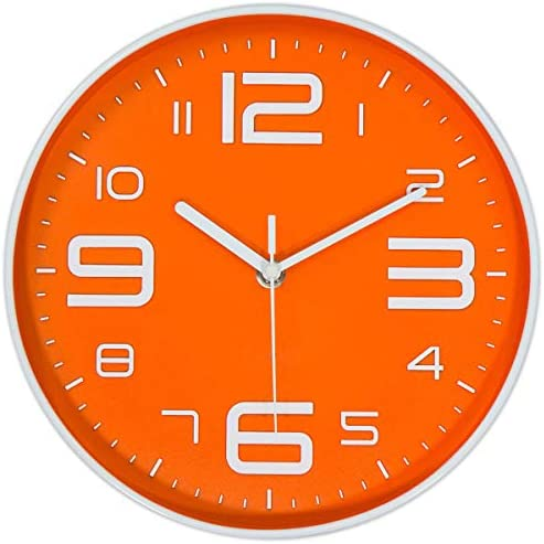 45Min 10 Inch 3D Number Dial Face Modern Wall Clock