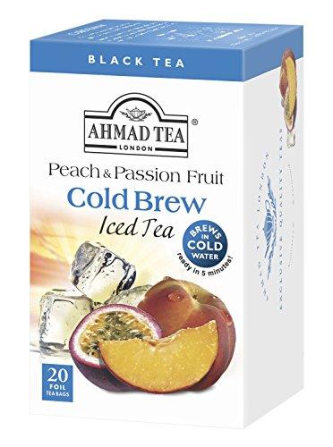 Ahmad Tea Cold Brew Iced Tea, Peach and Passion Fruit, 20 Count (Pack of 6) (Ahmad Tea Glass)