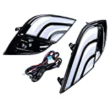 1 Pair of LED DRL Daytime Running Lamp w/Turn Signal Fog Light Compatible with Toyota Camry 2018 SE XSE