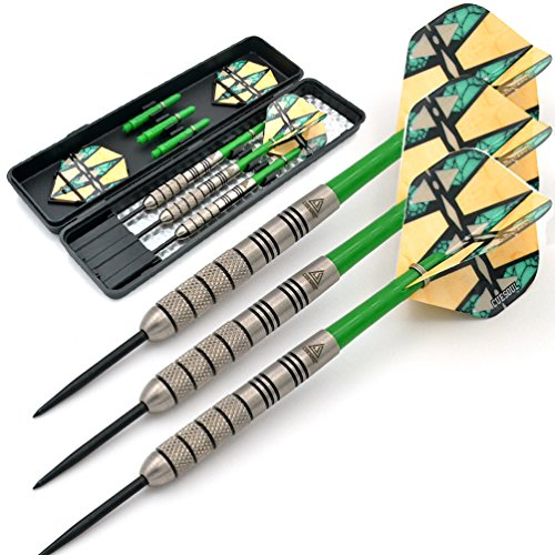 Black Scorpion CUESOUL Darts Set Steel Tip 95% Tungsten with Slim Dart Case (26g Darts)