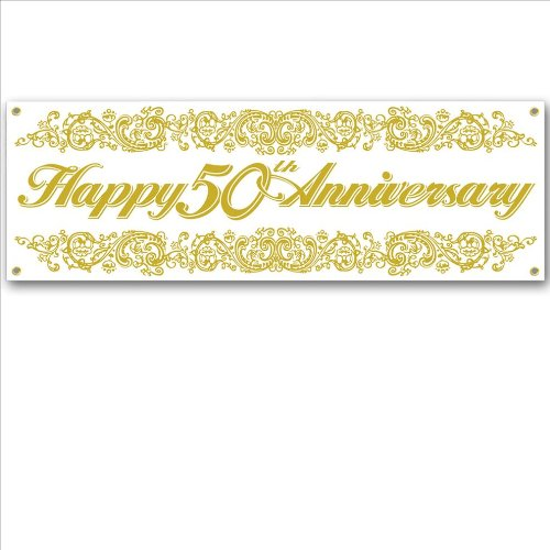 50th Anniversary Sign Banner Party Accessory