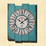 Cheap Europe Stylish Retro Tracery Vintage Rustic Shabby Chic Home Office Study Cafe Decoration Art Large Wall Clock-E