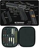 Ultimate Arms Gear Gunsmith & Armorer's Cleaning GLOCK Cutaway Color 3D Gun Mat + 17pc Handgun Pistol Cleaning Kit .22/.357/.38/9mm/.44/.45