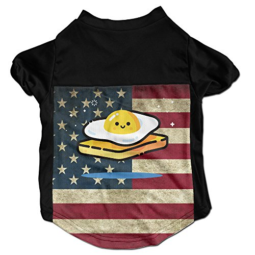 [Egg Funny Costumes, Clothing, Shirt, Vest, T-shirt, Puppy Pet Dog Cat Fashion 100% Polyester Fiber Tee Gift For Any Animal Fan Lovers Black] (Costume Caviar)