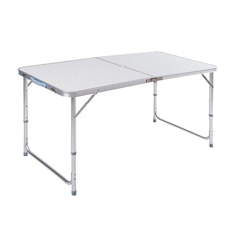 Tavoli Pieghevoli Per Camper.Znl Tavolo Camper Campeggio Picnic Alluminio Pieghevole Per Spiaggia Giardino Cucina 120 X 60 X 70cm Aft 02