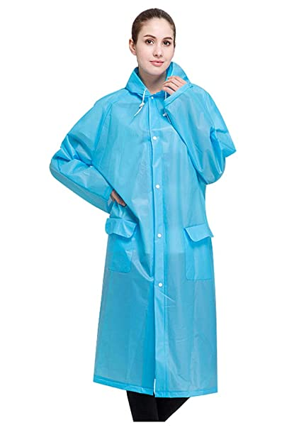promotion 2019 real cute cheap Hycurey Packable Rain Jacket Oversize Rainwear Lightweight EVA Raincoat  with Hood for Womens Girls
