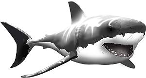 "VWAQ Giant Great White Shark Wall Decal Peel and Stick Wall Art (19"" H X 37"" W)"