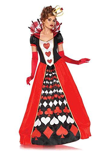 Leg Avenue Women's Wonderland Queen of Hearts Halloween Costume, Multi, Large -