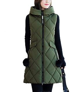 WOZOW 2019 Fall Winter Stand Collar Puffer Vest Lightweight Cotton Jacket for Women