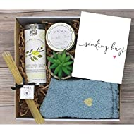 UnboxMe Care Package For Women |  Feel Better Soon Get Well Soon Gift | Stress Relief Gift Self Care Encouragement Gift Nurse Gift Bff Gift, Cancer Gift Happy Birthday Gift (Sending Hugs Card)
