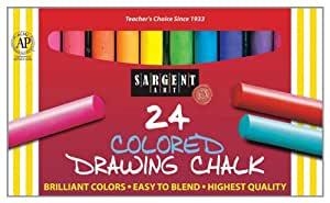 Sargent Art 22-4134 Round Colored Drawing Chalk, 24 Count