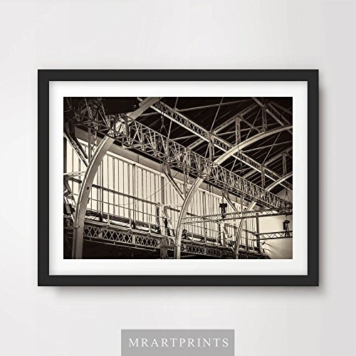 INDUSTRIAL FACTORY WAREHOUSE ART PRINT Poster Modern Mechanical Metal Home Decor Interior Room Design Wall Picture Photo A4 A3 A2 (10 Size - Posters Art Warehouse