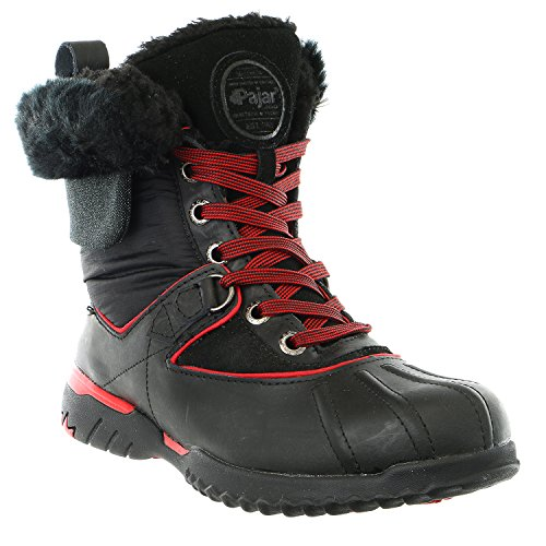 grey Winter Boot Pajar Leather Shoe black Womens Black black Snow Krystal red TfPgfxwqnO
