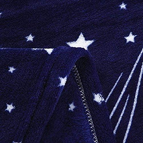 Couverture Polaire Doux Impression d'étoiles Chaud Épaissir Couverture pour Couverture en Microfibre de canapé 150 * 200cm