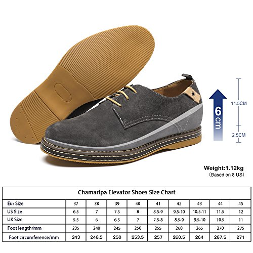 CHAMARIPA Zapatos Casuales de Cuero Para Hombre - 6 cm Más Alto - L219B01-1