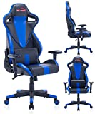 Top Gamer Gaming Chair PC Computer Game Chairs for Video Game (Blue-008)
