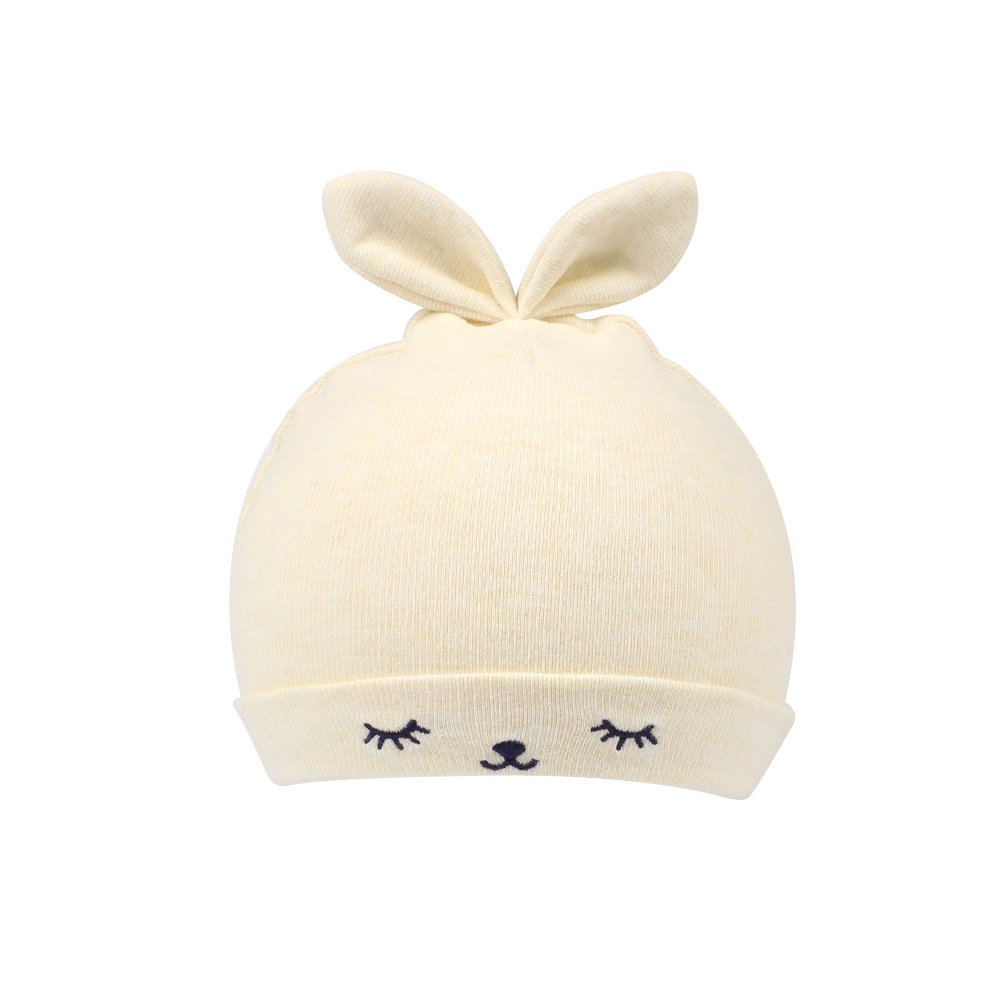 2e399b7c9ebcb1 Amazon.com: KASULAR Newborn Hat Baby Boys Girls Beanies 0-4Months Squinting Rabbit  Ears(Beige): Clothing
