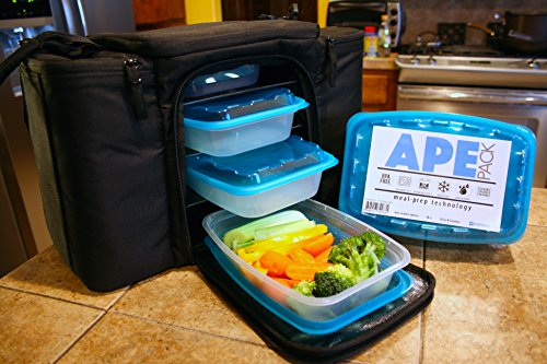 Meal Prep Containers for the Athletic Lifestyle - 28 Oz Single Compartment - Gym Bag Compatible - Enhanced Food Storage Reusable Plastic Stackable Lunch ... & Meal Prep Containers for the Athletic Lifestyle - 28 Oz Single ...