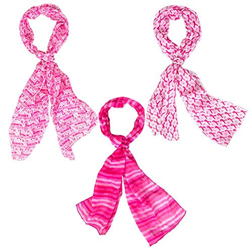 - Breast Cancer Awareness Scarf Survivor Patient Various Colors of Pink Colors Will Vary